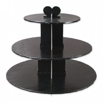 Black Cupcake Stand 3 Tiers
