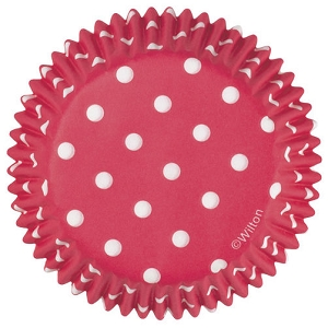 Wilton Red Polka Dots Std 75 ct