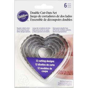 Mothers Day Wilton Heart Double Cut Out Set