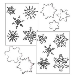 Christmas Snowflake Cutter & Texture Set